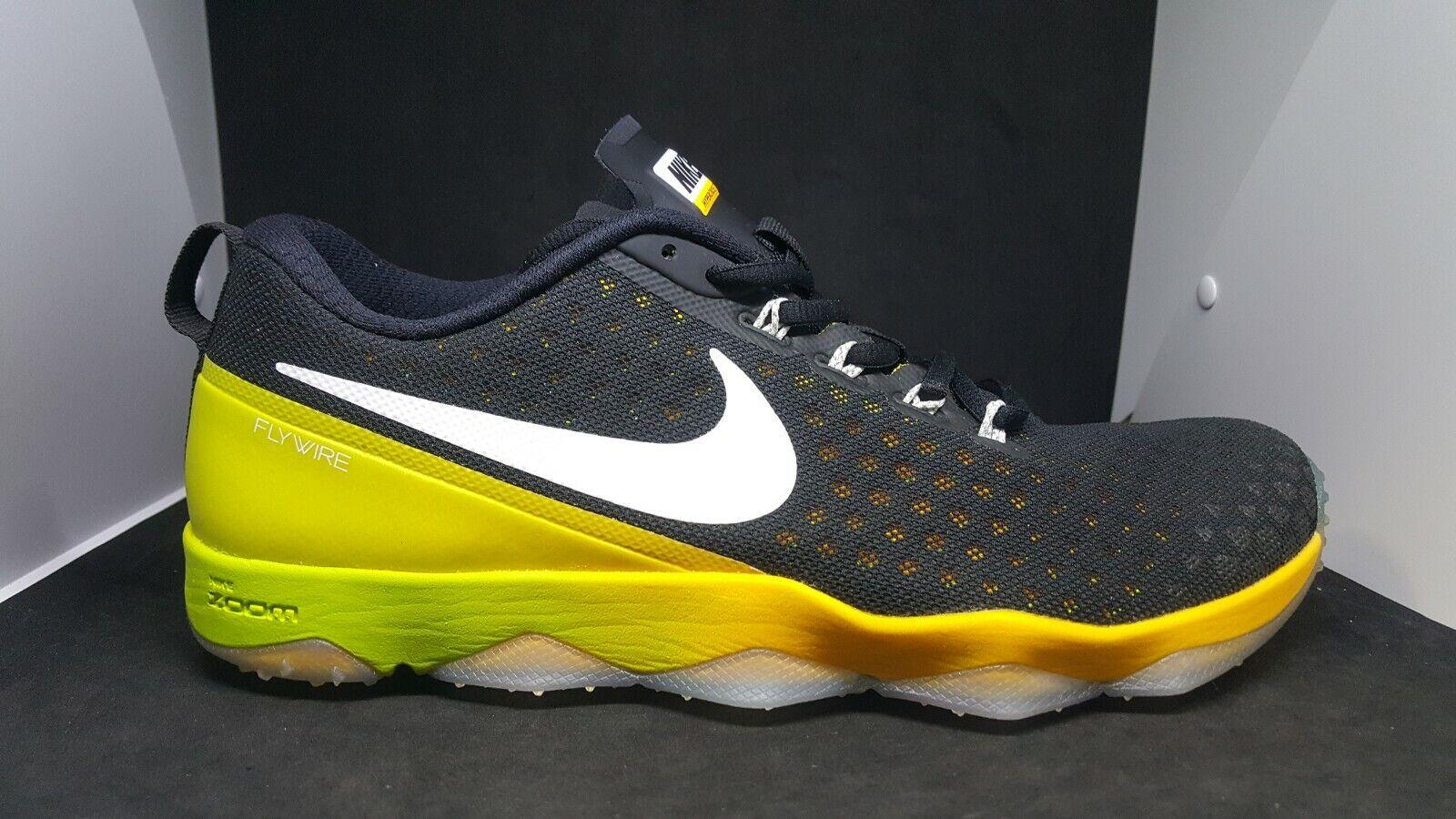 Nike Mens  Zoom Hypercross TR2 N7 Black Yellow 749371-813 size 10