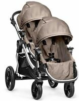 2016 Baby Jogger City Select Twin Tandem Double Stroller Quartz W Second Seat