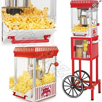 "POPCORN CART MACHINE Popper Maker Vintage Popper Red Stand Movie Room 48"" Tall"