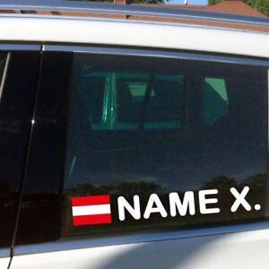 Fahrername-Aufkleber-O-Fahne-Racing-Osterreich-Flagge-mit-Namen-Sticker