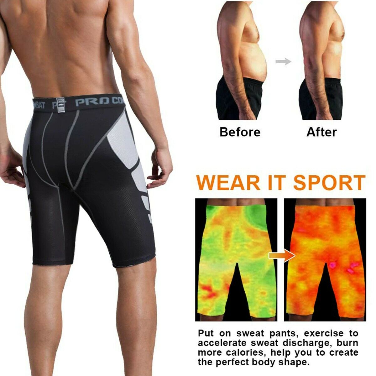 Men's short Athletic compression Wear basketball running swimming pants tight