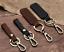 Retro Key Chain Handmade Leather Belt Loop Key Holder Ring Keyfob Detachable