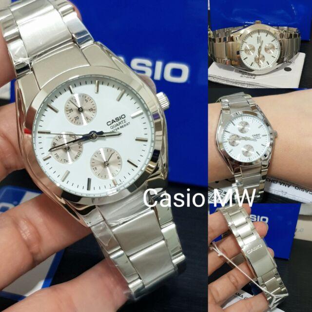 100% Genuine Latest Casio MTP-1191A-7A Day Date Analog Dress Quartz Mens Watch