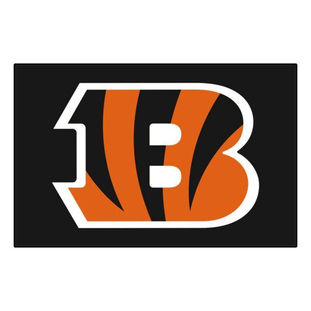 FANMATS NFL Cincinnati Bengals Nylon Face Carpet Car Mat