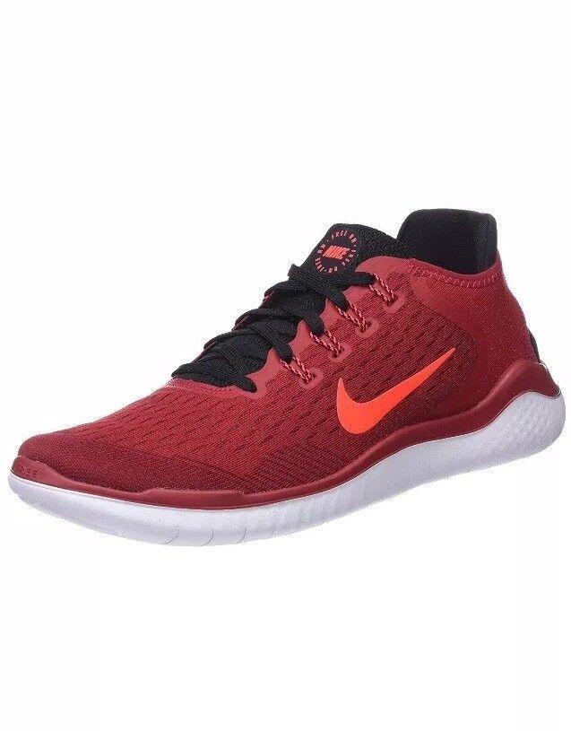 Men Nike Free Run 2018 Running Athletic shoes Gym Red Crimson 942836-602
