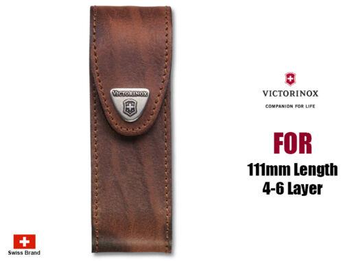 Victorinox Cinturón De Cuero Marrón Bolsa para 111mm 4-6 capas Navaja Suiza 4.0548