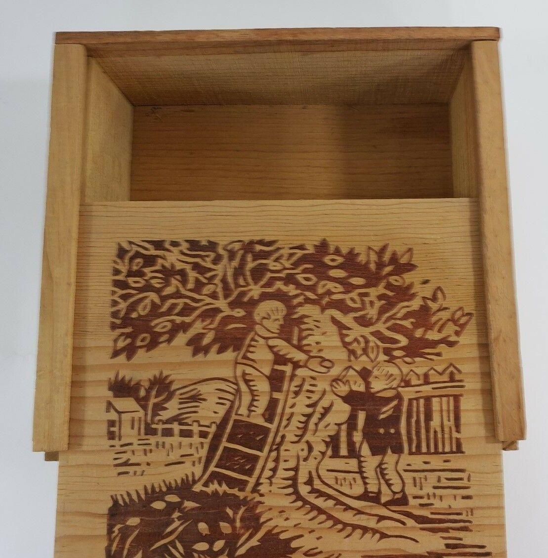 Old Burnt Pine Wood Lid Slider Box House Of Almonds Cigar Box Crafts Storage