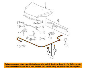 image is loading honda-oem-06-08-pilot-hood-latch-lock-