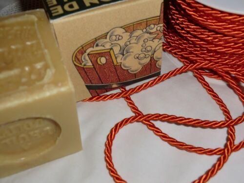 B52 3m Satinkordel 4mm diverse Farben Schmuckkordel gedreht Glanz Band m//€0,65