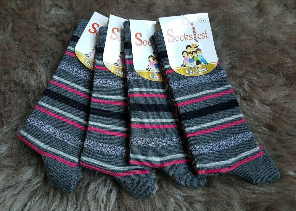 6 Paires Filles Fashion Coton Hautes enfants Kids School Chaussettes avec nœud taille