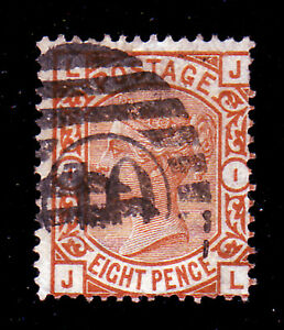 GB QV SG 156 8d ORANGE GOOD USED - havant, Hampshire, United Kingdom - GB QV SG 156 8d ORANGE GOOD USED - havant, Hampshire, United Kingdom