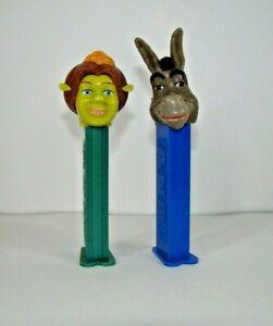 PEZ-Shrek-Characters-Donkey-and-Princess-Fiona-Both-Retired