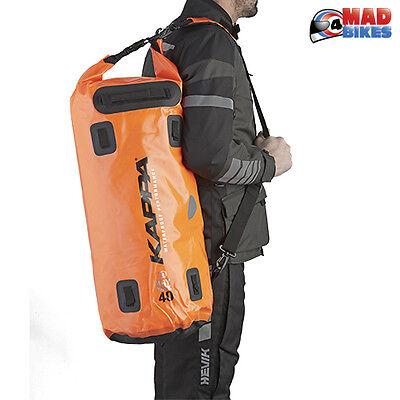 hasta ahora explotar tanque  Kappa WA405F 100% Waterproof Motorcycle Luggage Dry Pack, Saddle Roll Bag  40L   eBay