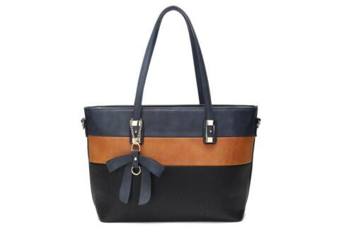 LADIES WOMEN/'S FASHION TOTE HANDBAG SHOULDER BAG MULTI COLOR UK SELLER
