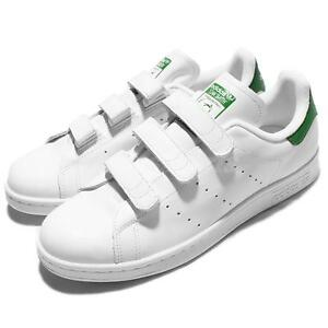 new style 39ca2 9938d Image is loading adidas-Originals-Stan-Smith-CF-White-Green-Mens-