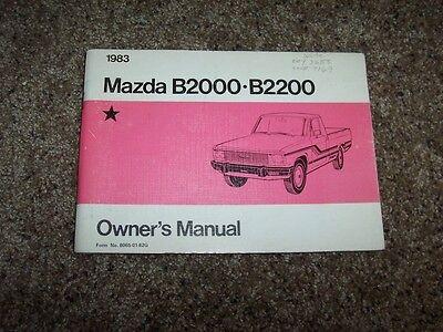 Other Car Manuals Parts & Accessories 1983 Mazda B2000 B2200 Truck ...