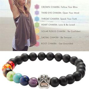 Chakra-Healing-Beaded-Bracelet-Natural-Lava-Stone-Diffuser-Bracelet-Jewel-F