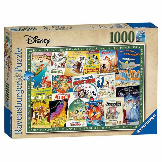 Ravensburger Disney Vintage Movie Poster 1000 Piece Jigsaw Puzzle NEW