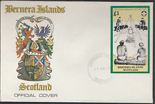 GB Locals - Bernera (1315) 1982 SCOUTS 75th Anniv s/sheet on first day cover