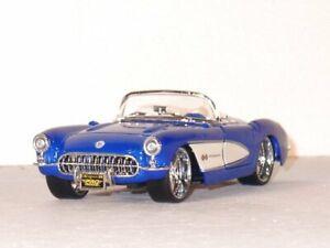 CHEVROLET Corvette - 1957 - blue - Maisto 1:24