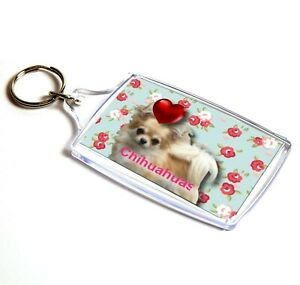 Chihuaha-longhaired-Keyring-Key-Ring-Birthday-Gift-Xmas-Gift-Mothers-Day-Gift