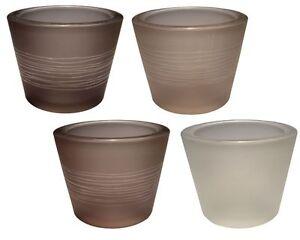 Teelichtglas-LINEA-massives-Glas-mit-feinen-Linien-versch-Grautoene-sehr-edel