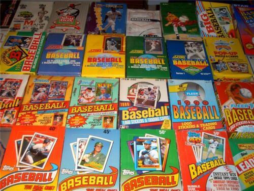 Huge lot of unopened baseball card packs!
