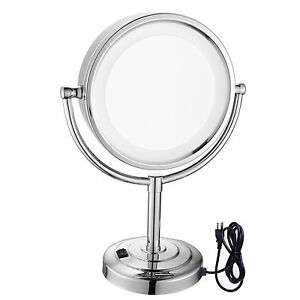 Gurun 8 5 Quot Vanity Lighted Counter Makeup Mirror With 10x
