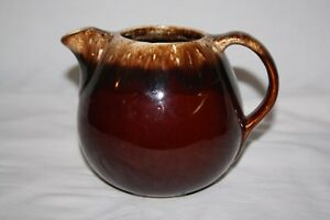 Vintage-Hull-Pottery-Brown-Drip-Glaze-Teapot-1950s-Tea-Pot-USA-Oven-proof-NO-LID