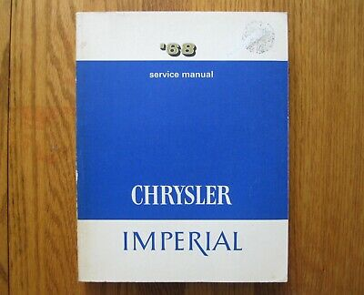ORIGINAL 1968 Chrysler Imperial Service Manual Newport New ...
