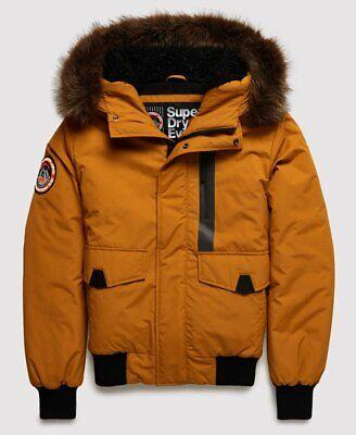 "Superdry Men/'s Everest Bomber Jacket Flaxen Size RRP £119.99 102cm L 40/"""