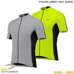 3D-Mens-Cycling-Jersey-Half-Sleeve-Top-Cycle-Racing-Team-Quality-Biking-Top