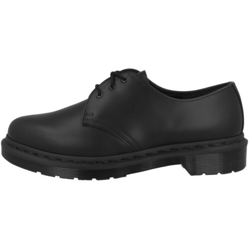 Dr Doc Martens 1461 Mono Leder Unisex Schuhe Boots 3-Loch black smooth 14345001