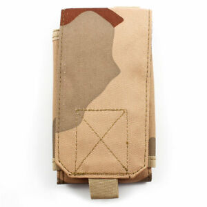 Outdoor-Sports-Cell-Phone-Canvas-Rectangle-Bag-Holder-Pocket-Carry-Pouch-Khaki