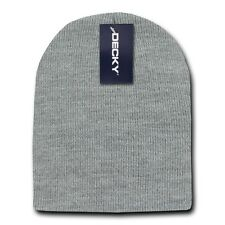 Heather Gray Beanie Hat Skull Snowboard Winter Warm Knit Hats Cuffless Beanies