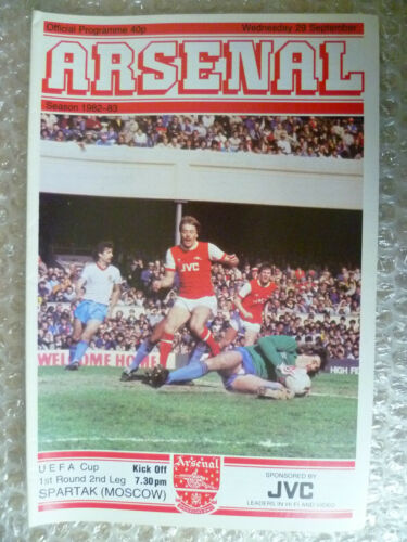 198283 UEFA Cup 1st RD 2nd Leg ARSENAL v SPARTAK, 29 Sept