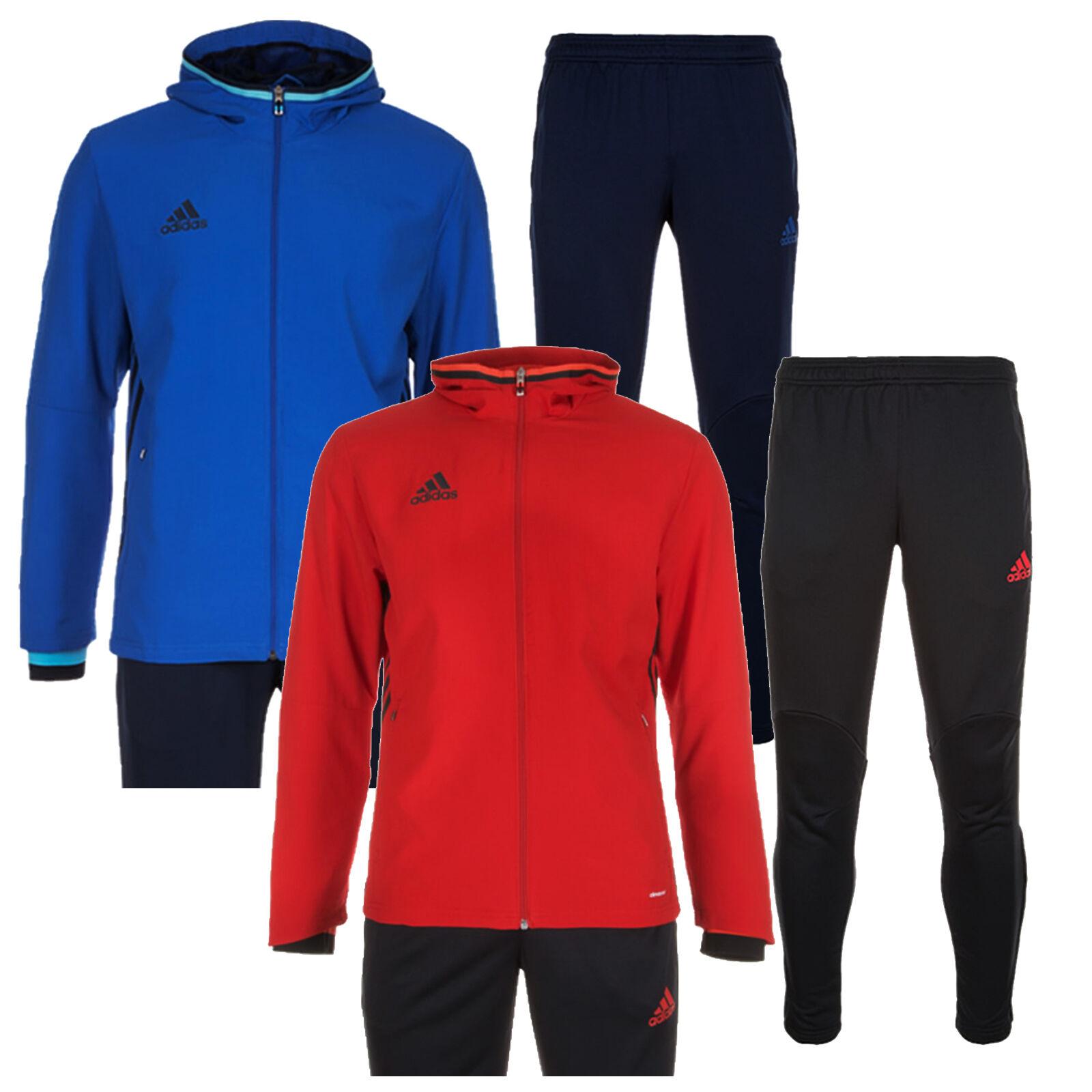 Details zu Adidas Condivo 16 Trainingsanzug Vorlage Anzug Kinder 3 Streifen Neu