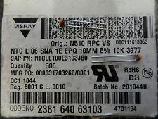 10 Stück VISHAY THERMISTOR NTC Part # NTCLE100E3103JB0 10kohm zb. für Akkus etc.