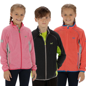 Regatta Boys Girls Loco Half Zip Junior Fleece Top Grey Sports Outdoors