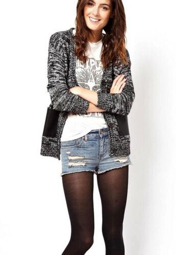 giacca cardigan donna grigio /& nero cod 1004