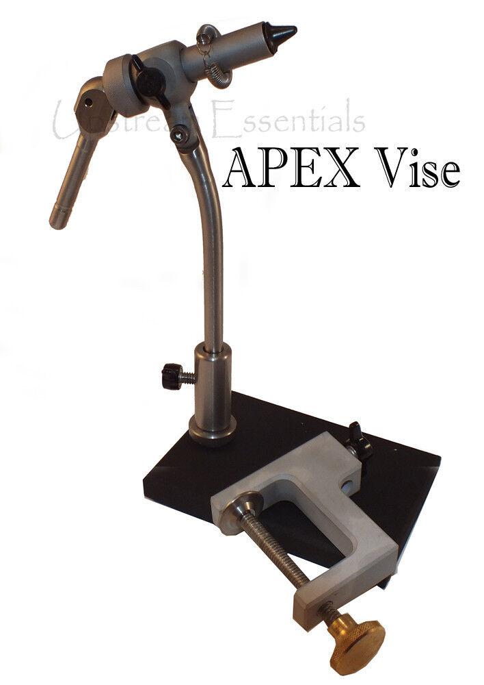 Apex Apex Apex Giratorio Para Moscas Vise-Con Pedestal & Abrazadera Base 6 0 a tamaño 32 Ganchos 004177
