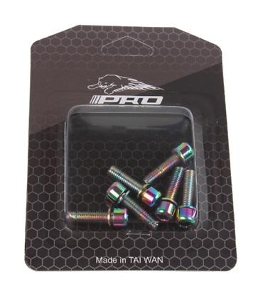 6pcs M5*18mm Titanium Plated Stem Screw Bolt Bicycle Steering Handlebar Bolt New