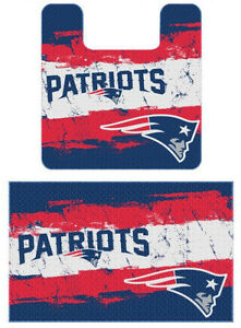 Nfl New England Patriots 2pc Bathroom Rug Set New Ebay