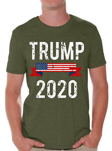 Trump-2020-T-Shirt-Men-039-s-Trump-Flag-Shirts-Donald-Trump-Tshirt-USA-Trump-Shirt