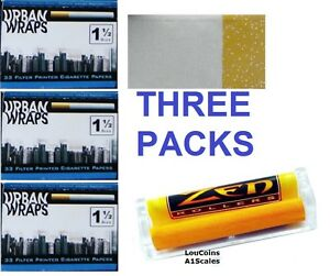 Urban Wraps 1 1 2 Size Cigarette Rolling Papers Three
