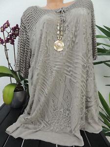 New York vollständige Palette von Spezifikationen niedrigster Rabatt Details zu Damen Bluse Größe 46 48 50 52 54 Übergröße Tunika Blusen Shirt  Muster Spitze 124