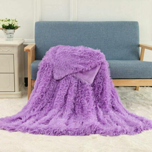 Warme Sherpa Fell Faux Throw Decke flauschige PV Plüsch weiche Decke Bettwäsche