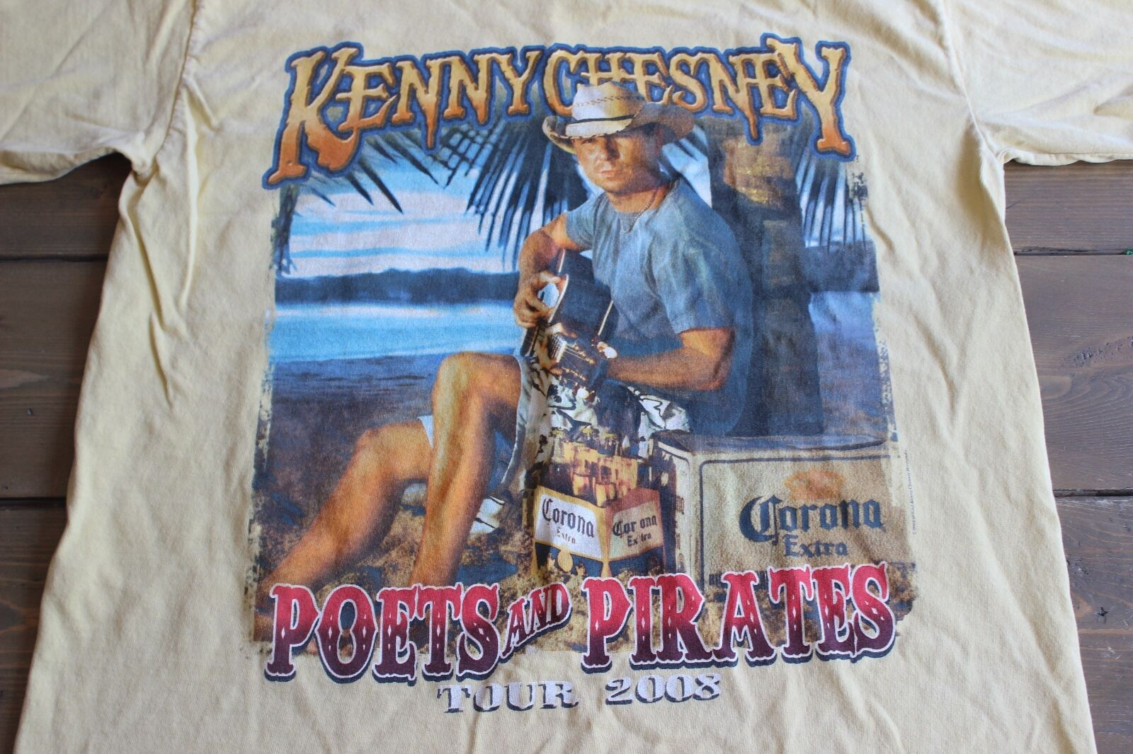 Kenny Chesney Poets and Pirates 2008 Concert Tour Shirt M