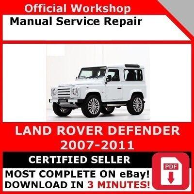 OFFICIAL WORKSHOP Manual Service Repair Land Rover Defender 1998-2007