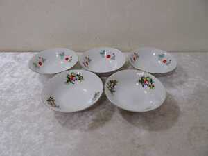 5X Porcelana Muesli Dessert Ensalada Cuenco - Estilo Rústico -Bowlenspicker-